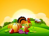 Thanksgiving background. EPS 10.