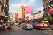 BANGKOK - MARCH 3: Daily traffic jam in the afternoon on March 3, 2012 in Bangkok, Thailand. Traffic jams remains constant problem in Bangkok despite rapid development of public transportation system.