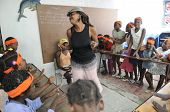 Escola estudante em Cite Soleil-Haiti.