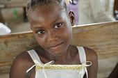 Haitianische Mädchen.