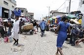 Mercado de hierro en Haití.