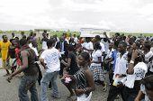 Ritual of Haitian funeral.