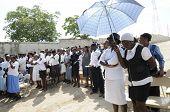 The Funeral in Haiti.