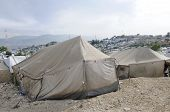 Tents for the refugees in Haiti
