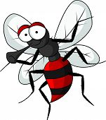 mosquito cartoon on white background
