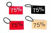 Four Types Of Seventy-five Percent Paper Tag I