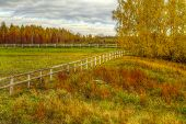 foto of novosibirsk  - The HDR image of the empty autumn levade in Koltsovo  - JPG