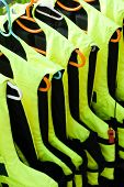Life Jackets In A Row