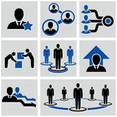 Teamwork icons set.
