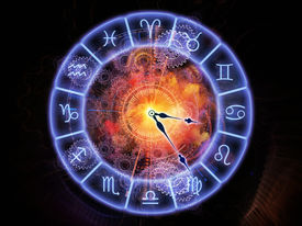 picture of occult  - Zodiac symbols gears lights and abstract design elements arrangement suitable as a backdrop in projects on astrology child birth fate destiny future prophecy horoscope and occult beliefs - JPG
