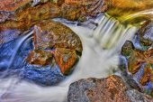 Creek Rock, Rapids And Water Fall In Hdr High Dynamic Range