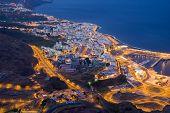 Santa Cruz At Night,  La Palma Canary Islands