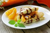 image of crepes  - thin pancakes  - JPG