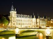 France - Paris- Castle Conciergerie and bridge of Change