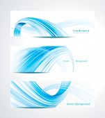 Set of abstract technology header background.