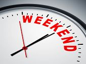 stock photo of count down  - An image of a nice clock with weekend - JPG