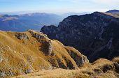 Panoramic View From Bucegi Mountains In Romania
