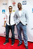 NEW YORK-MAY 30: New York Giants player Justin Tuck (R) and DJ Mad Linx attend the 5th annual Tuck's