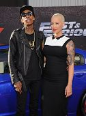 LOS ANGELES - MAY 21:  Wiz Khalifa & Amber Rose arrives to the