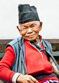 KATHMANDU, NEPAL - MAY 18 - Old man sit in the retirement home founded by Mother Teresa  in Rajrajes