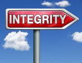 integrity authentic and honest and reliable guidance integrity button integrity icon trust red road