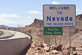 Nevada Welcome Sign.