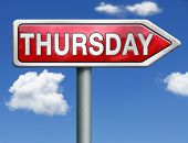 image of thursday  - thursday week next or following day schedule concept for appointment or event in agenda - JPG