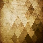 stock photo of rhombus  - Vintage grunge harlequin background - JPG