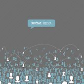 Social Media Network. Raster version, vector file available in my portfolio.
