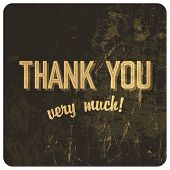 Thank you words on grunge background. Raster version, vector file available in my portfolio.