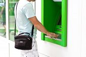 pic of automatic teller machine  - Electronic banking  - JPG