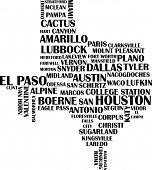 image of texas  - Various Cities of Texas compiled to look like the State of Texas - JPG