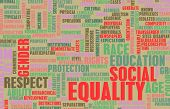 stock photo of respect  - Social Equality Respect for Every Race and Gender - JPG
