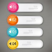 Set of colorful bookmarks, stickers, labels, tags. Numbered banners. Vector template for infographics
