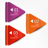 Set of bookmarks, stickers, labels, tags. Vector template for infographics