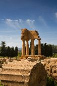 Greek Temple Of Castor And Pollux