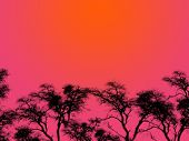Purple Sky Silhouettes poster
