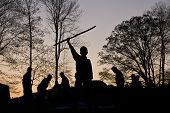 Scouts In Silhouette