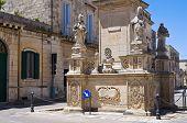 Column of Madonna delle Grazie. Maglie. Puglia. Italy.