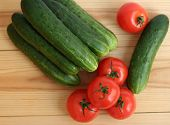 Fresh Tomatoes And Cucumbers