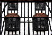 Tudor Beamed Building In Close Crop