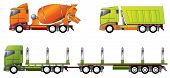 foto of 18 wheeler  - Construction and timber truck designs in different colors - JPG