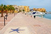 stock photo of tig  - Promenade in Abu Tig Marina - JPG