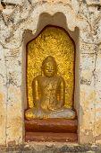 Buddha statutes in Old Bagan, Mandalay, Burma