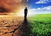 Una imagen de concepto de cambio climático