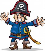 Pirate Captain Cartoon Illustration