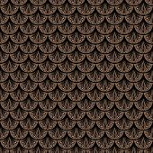 stock photo of bohemian  - Art deco vector geometric pattern in brown color - JPG