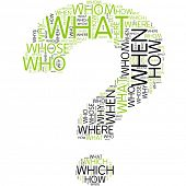 question mark | Word Art
