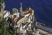 Touristic City Of Atrani On The Italy's Amalfi Coast.