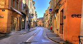 SAINT TROPEZ - NOV 2008: Shopping street in Saint Tropez in Saint Tropez, C�?�´te d'Azur, France, on November, 2008
